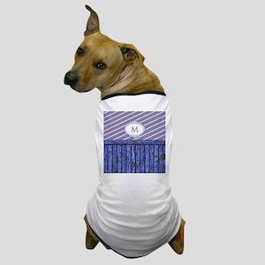 Maritime Monogram Blue Dog T-Shirt