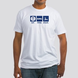 Eat Sleep Smack (do it) Fitted T-Shirt