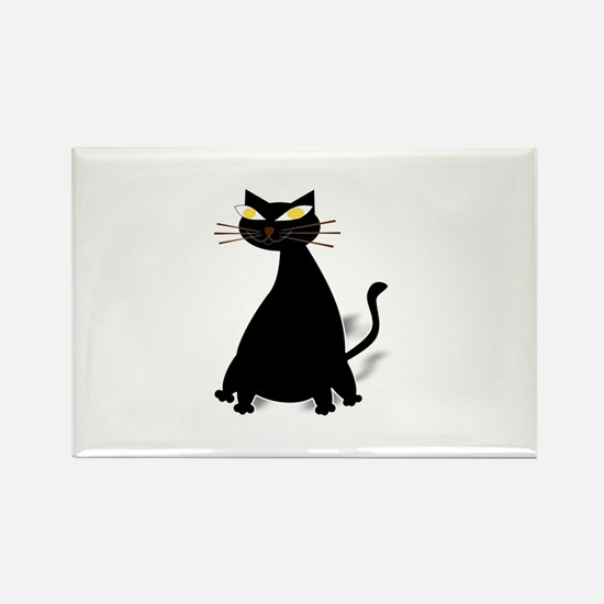 Black Fat Cat Magnets