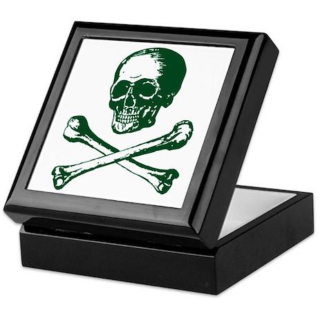 Masonic Skull and Crossbones Keepsake Box