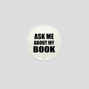 Ask me about my Book Mini Button