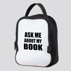 Ask me about my Book Neoprene Lunch Bag