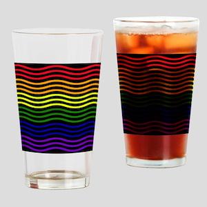 Curvilinear rainbow Drinking Glass