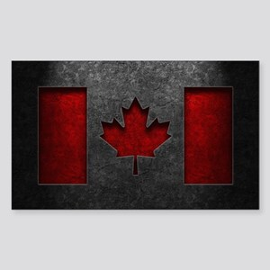 Canadian Flag Stone Texture Sticker