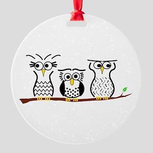 Three Little Owls Ornament