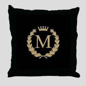 Custom Initial Monogrammed Logo Throw Pillow
