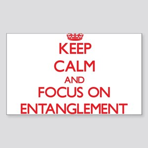 Keep Calm and focus on ENTANGLEMENT Sticker