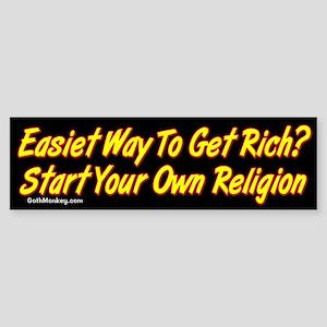 Get Rich Bumper Sticker