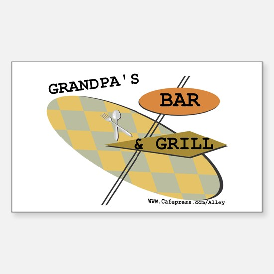 Grandpa's B&G Rectangle Decal