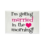 Married in the Morning Rectangle Magnet