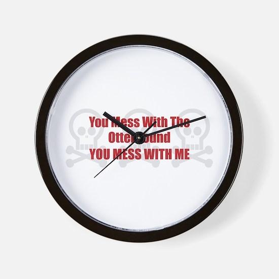 Mess With Otterhound Wall Clock