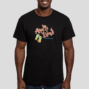 Amelia Island - Men's Fitted T-Shirt (dark)