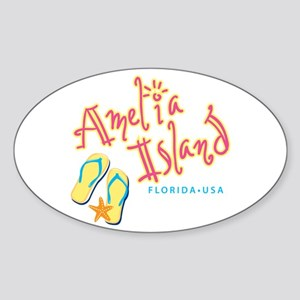 Amelia Island - Sticker (Oval)
