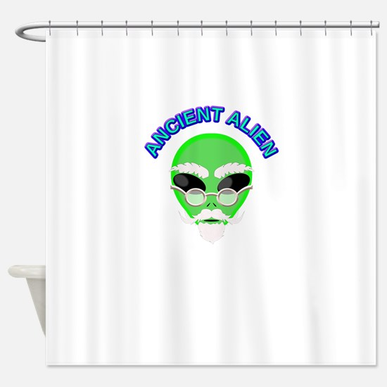 Cute Extraterrestrial Shower Curtain