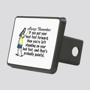 Funny Retro Best Foot Demotivational Hitch Cover