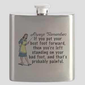 Funny Retro Best Foot Demotivational Flask