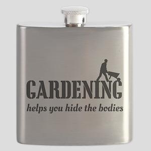 Gardening helps hide bodies Flask