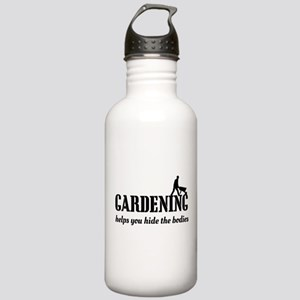 Gardening helps hide bodies Water Bottle