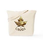 Gold Canada Souvenir Tote Bag