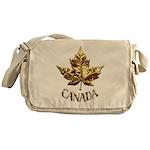 Gold Canada Souvenir Messenger Bag