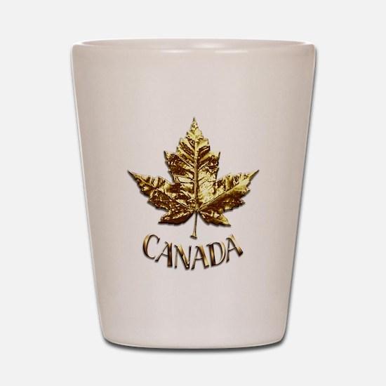 Gold Canada Souvenir Shot Glass