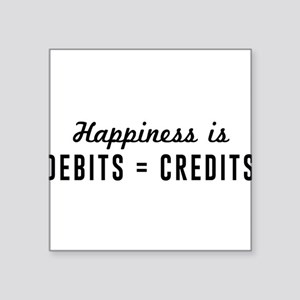 Happiness is debits credits Sticker