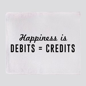 Happiness is debits credits Throw Blanket