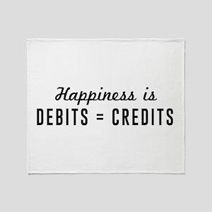 Happiness is debits credits Throw Blanket