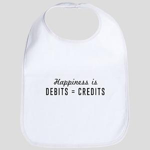 Happiness is debits credits Bib