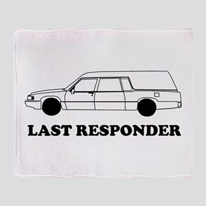 Hearse last responder Throw Blanket