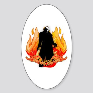 I SUCK Vampire Nosferatu Sticker (Oval)