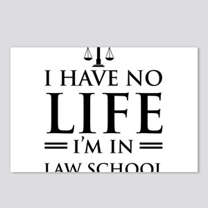 No life in law school Postcards (Package of 8)