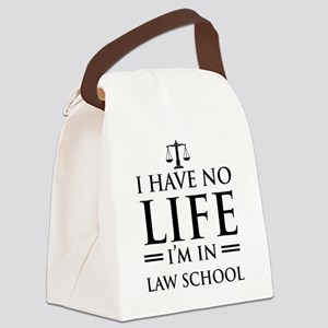 No life in law school Canvas Lunch Bag