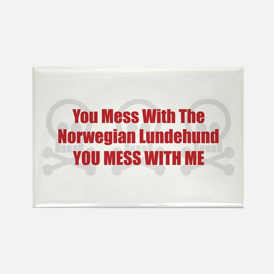Mess With Lundehund Rectangle Magnet (10 pack)