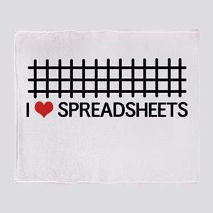 I love spreadsheets Throw Blanket