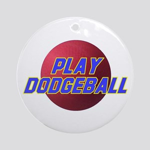 Play Dodgeball Ornament (Round)