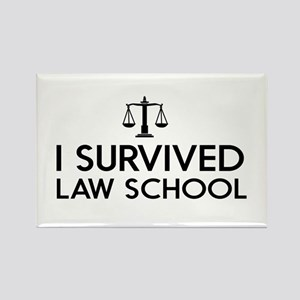 I survived law school Magnets