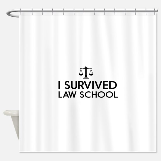 I survived law school Shower Curtain