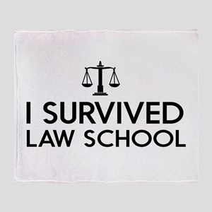 I survived law school Throw Blanket