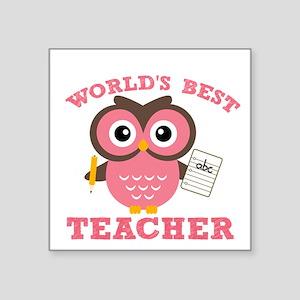 World's Best Teacher (Pink) Sticker