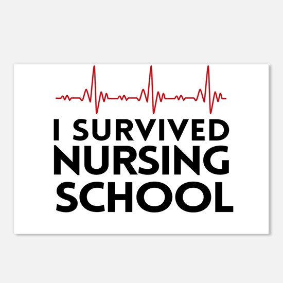 I survived nursing school Postcards (Package of 8)