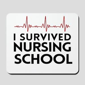 I survived nursing school Mousepad