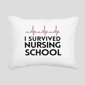 I survived nursing school Rectangular Canvas Pillo