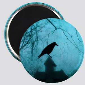 Blue Mist Crow Magnets
