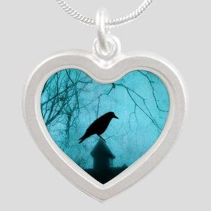 Blue Mist Crow Necklaces