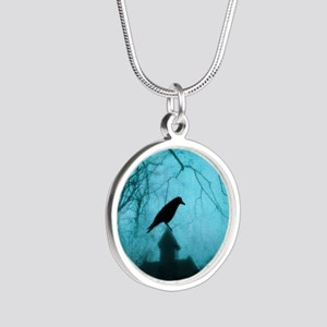 Blue Mist Crow Necklaces