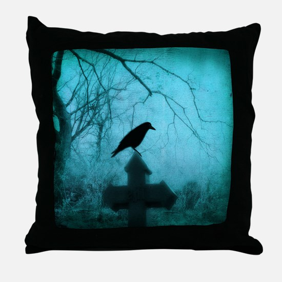 Cool Crow Throw Pillow