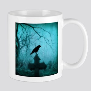Blue Mist Crow Mugs