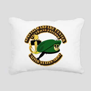 SWC - Beret Dagger DUI Rectangular Canvas Pillow