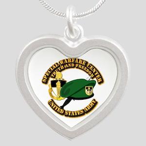 Swc - Beret Dagger Dui Silver Heart Necklaces